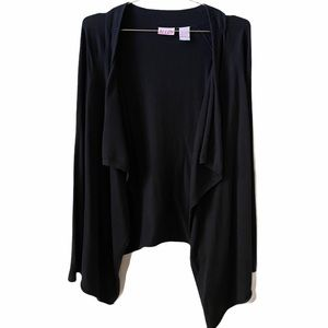 Alloy draped open front cardigan long sleeve